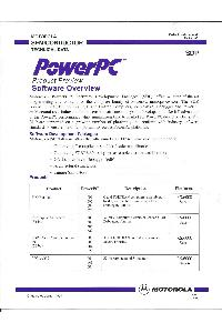 Motorola - PowerPC - Product Preview - Software Overview