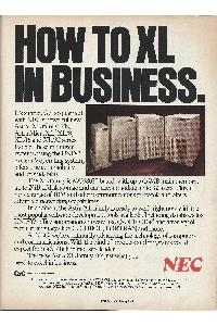 Nec - How to XL in business
