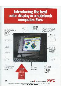 Nec - Introducing the best color display in a notebook coomputer.Ever.