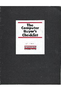 The computer buyer's checklist