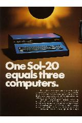 Processor Technology Corp. - One Sol-20 equals three computers