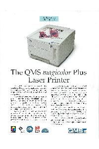 QMS Inc. - The QMS magicolor Plus Laser Printer