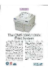 QMS Inc. - The QMS 1060/1060E Print system