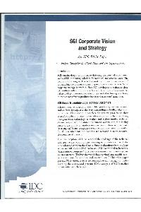 Silicon Graphics (SGI) - SGI Corporate Vision and Strategy