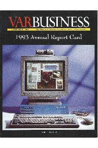 Silicon Graphics (SGI) - VAR Business 1993 Annual Report Card