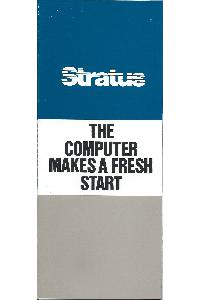 Stratus Computer Inc. - The computer makes a fresh start