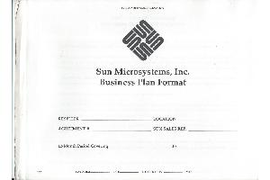 Sun Microsystems - Business plan format