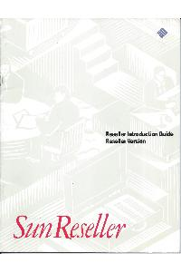 Sun Microsystems - Reseller Introduction Guide