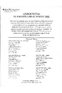Sun Microsystems - Announcing Sun Reseller summits 1992