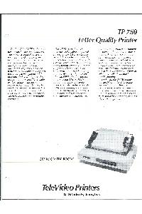 Televideo Systems Inc. - TP 750 Letter quality printer