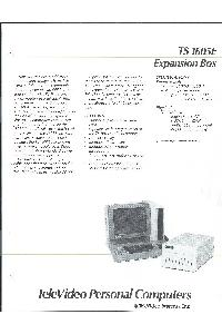 Televideo Systems Inc. - TS1605E Expansion Box
