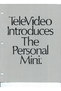 Televideo Systems Inc. - Televideo introduces the Personal Mini