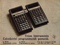 Texas Instruments Inc. - Texas Instruments. Calcolatrici programmabili portatili.