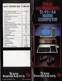 Texas Instruments Inc. - TI99/4A Home Computer