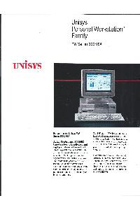 Unisys - Unisys Personal Workstation2 Family PW2 Series 500/16A