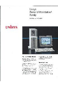 Unisys - Unisys Personal Workstation2 Family PW2 Series 800/33A