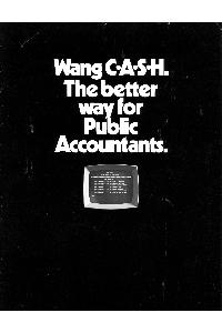 Wang Laboratories Inc. - Wang C.A.S.H. The better way for Public Accountants