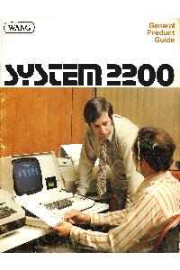Wang Laboratories Inc. - System 2200 General Product Guide