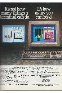 Wyse Technology Inc. - It's how many things a terminal can do. It's how many you can read.