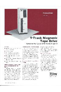 Zilog - 9-track magnetic tape drive