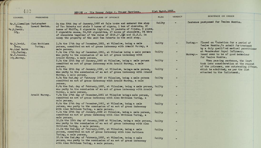 Alan Turing sentence