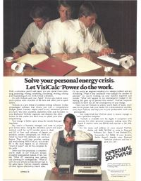Visicalc adverts