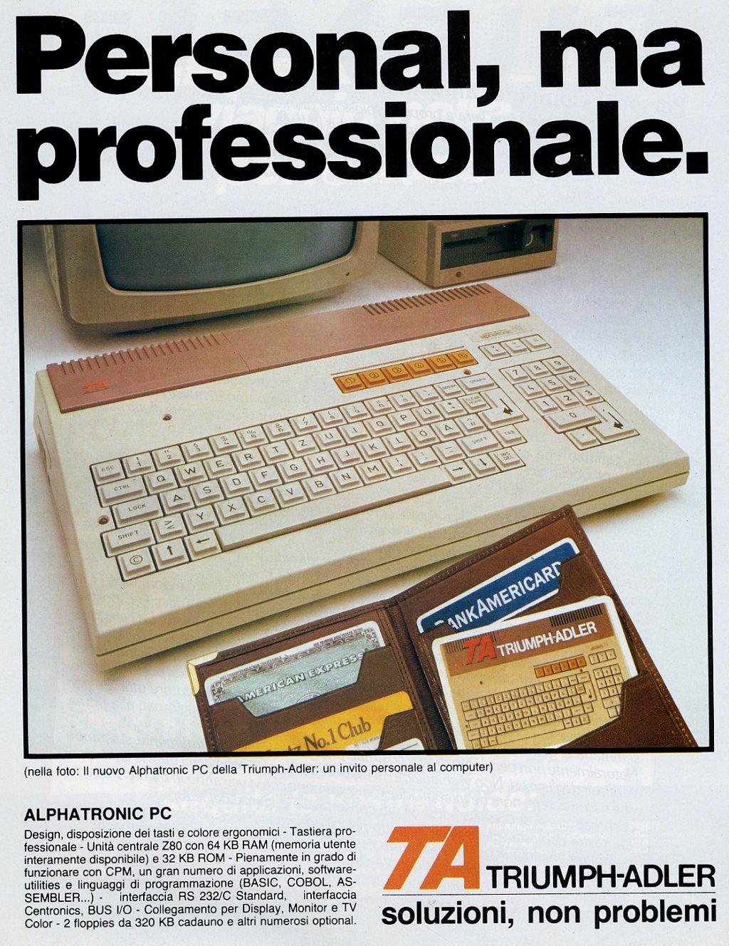 Triumph-Adler Alphatronic PC - MCbx