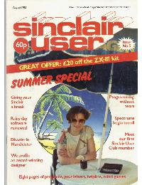 Sinclair User Magazine - 1982/08