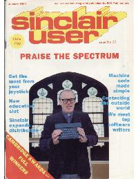 Sinclair User Magazine - 1984/01