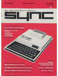 Sync - The magazine for Sinclair ZX80 users - Volume_1_Number_1